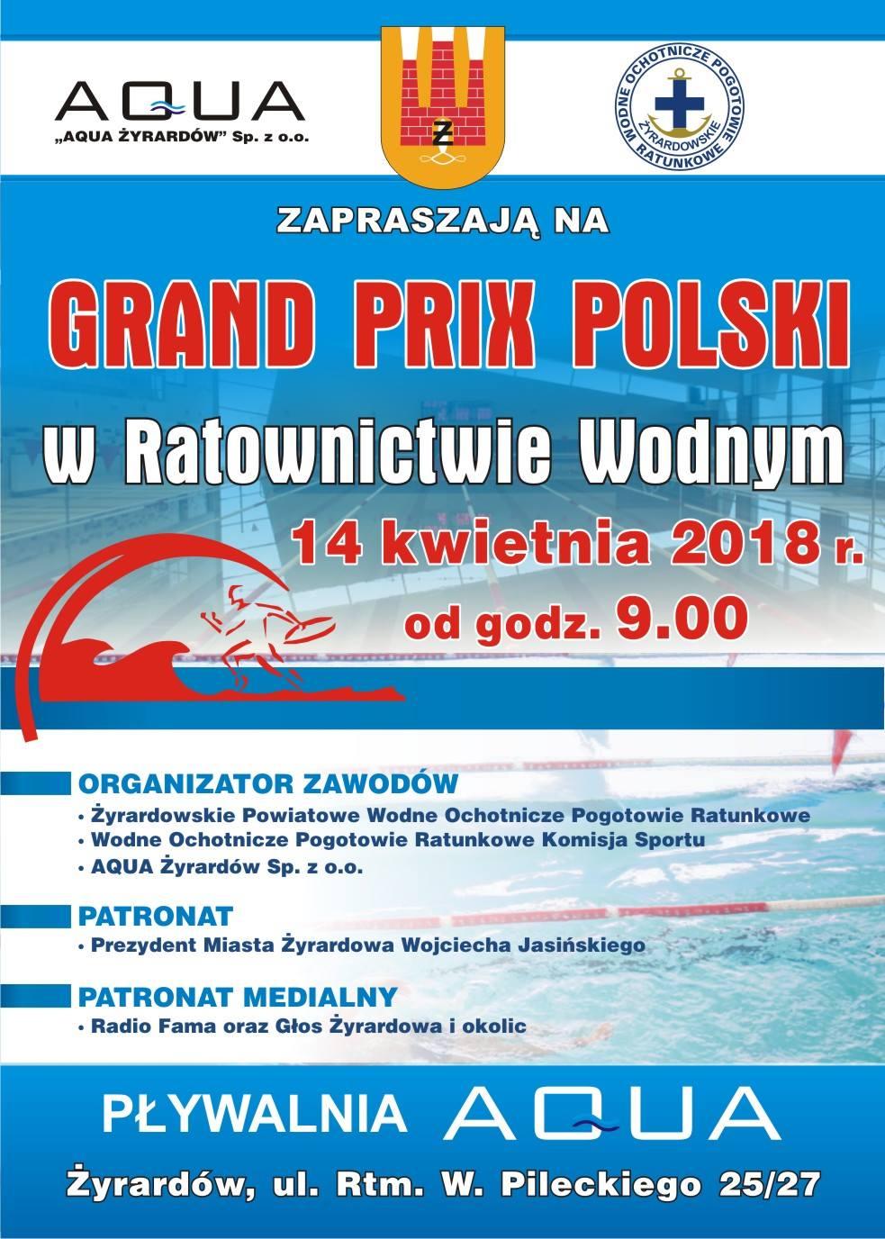 GP Żyrardów plakat 14 kwietnia 2018